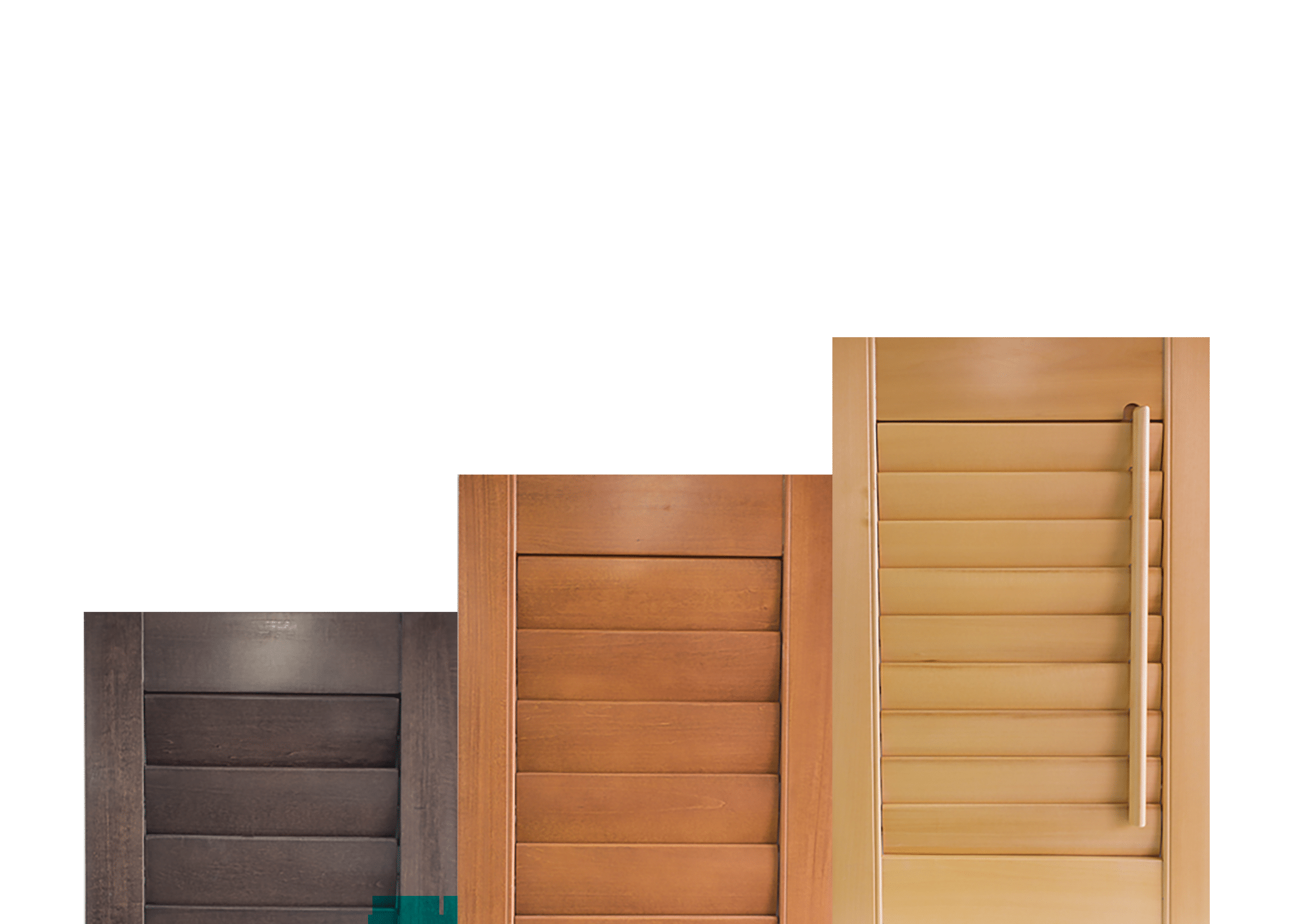 timber plantation shutters stain finishes panel