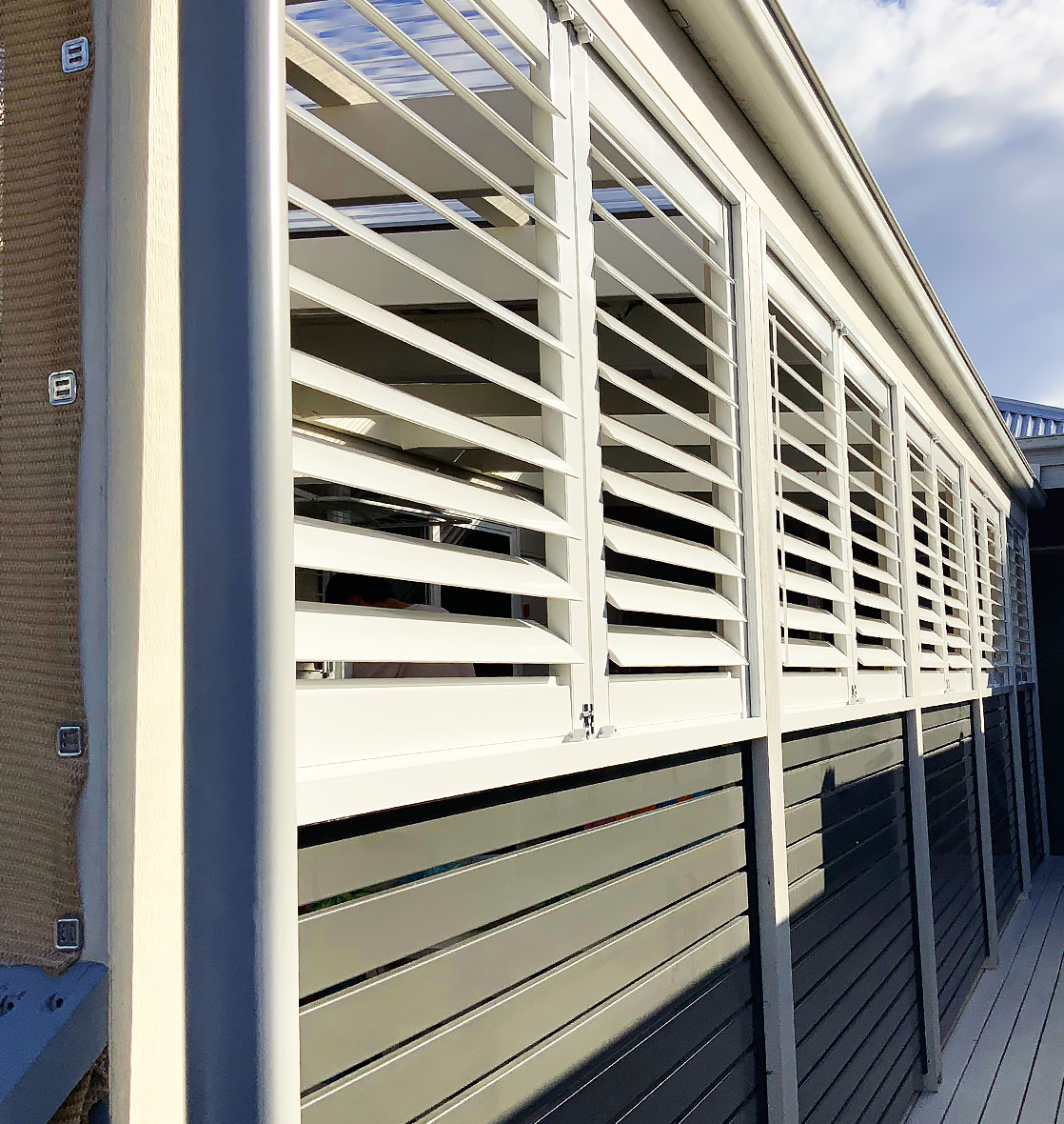 Aluminum shutters project photo one