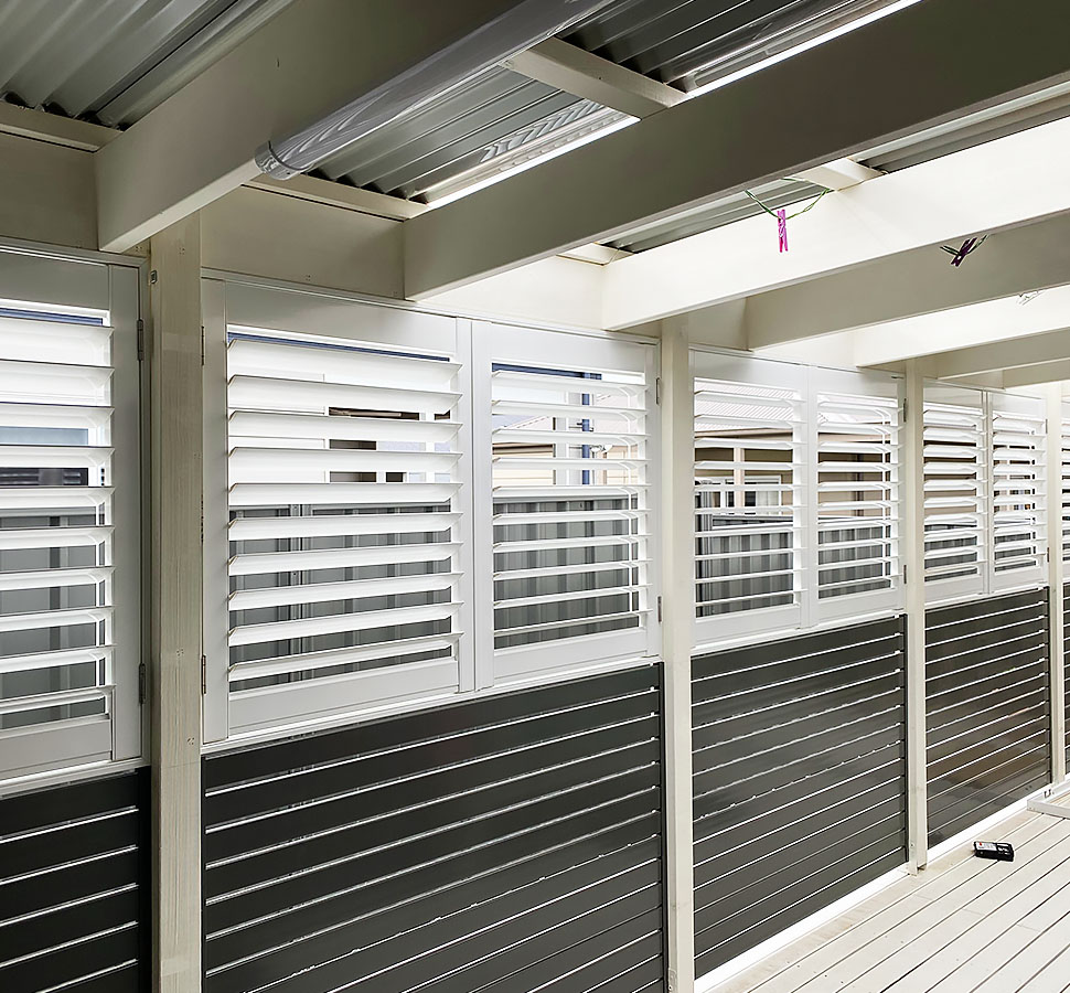 Aluminum shutters project photo two